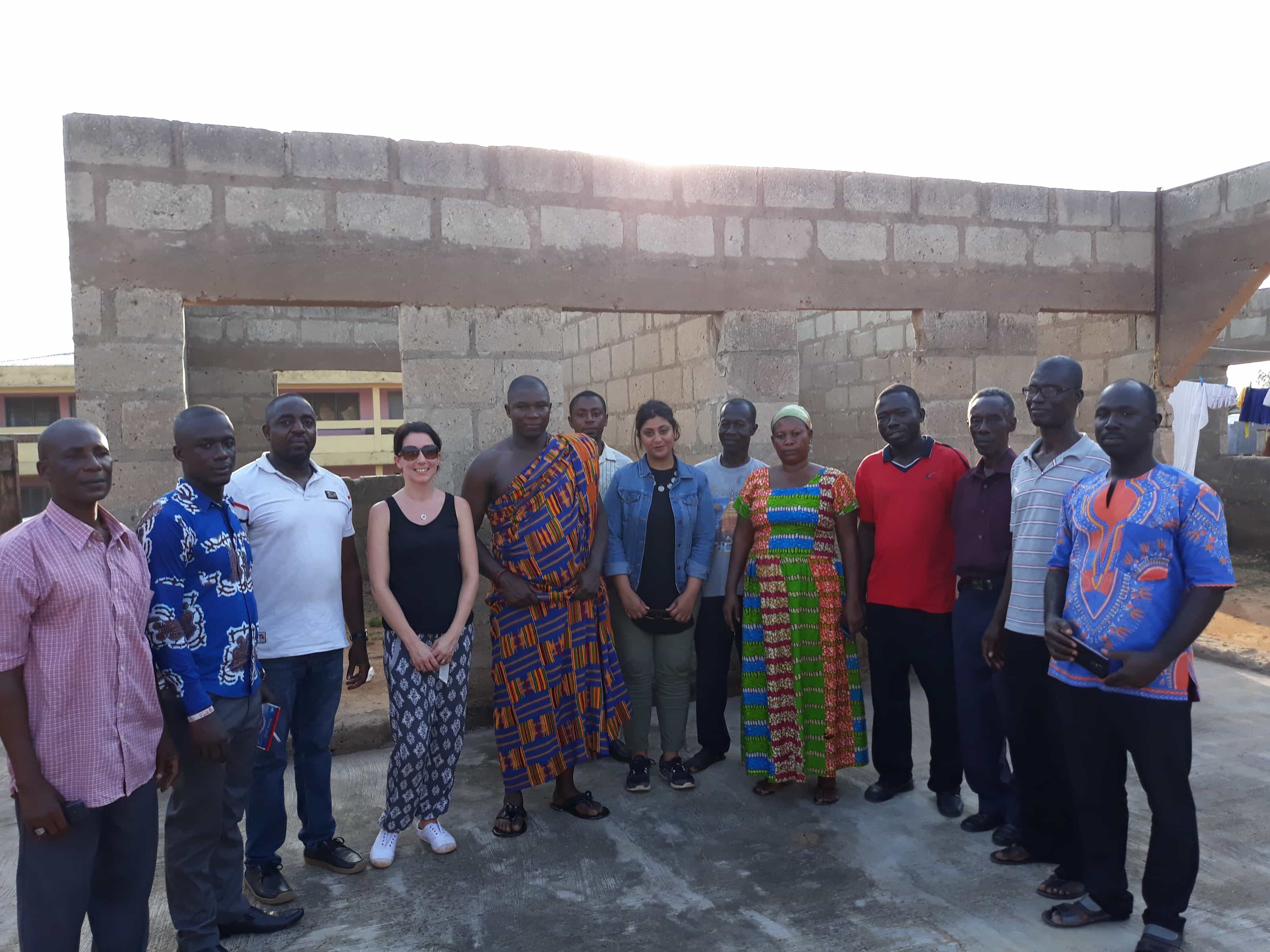 The One's Foundation's Vic, on her recent trip to Ghana