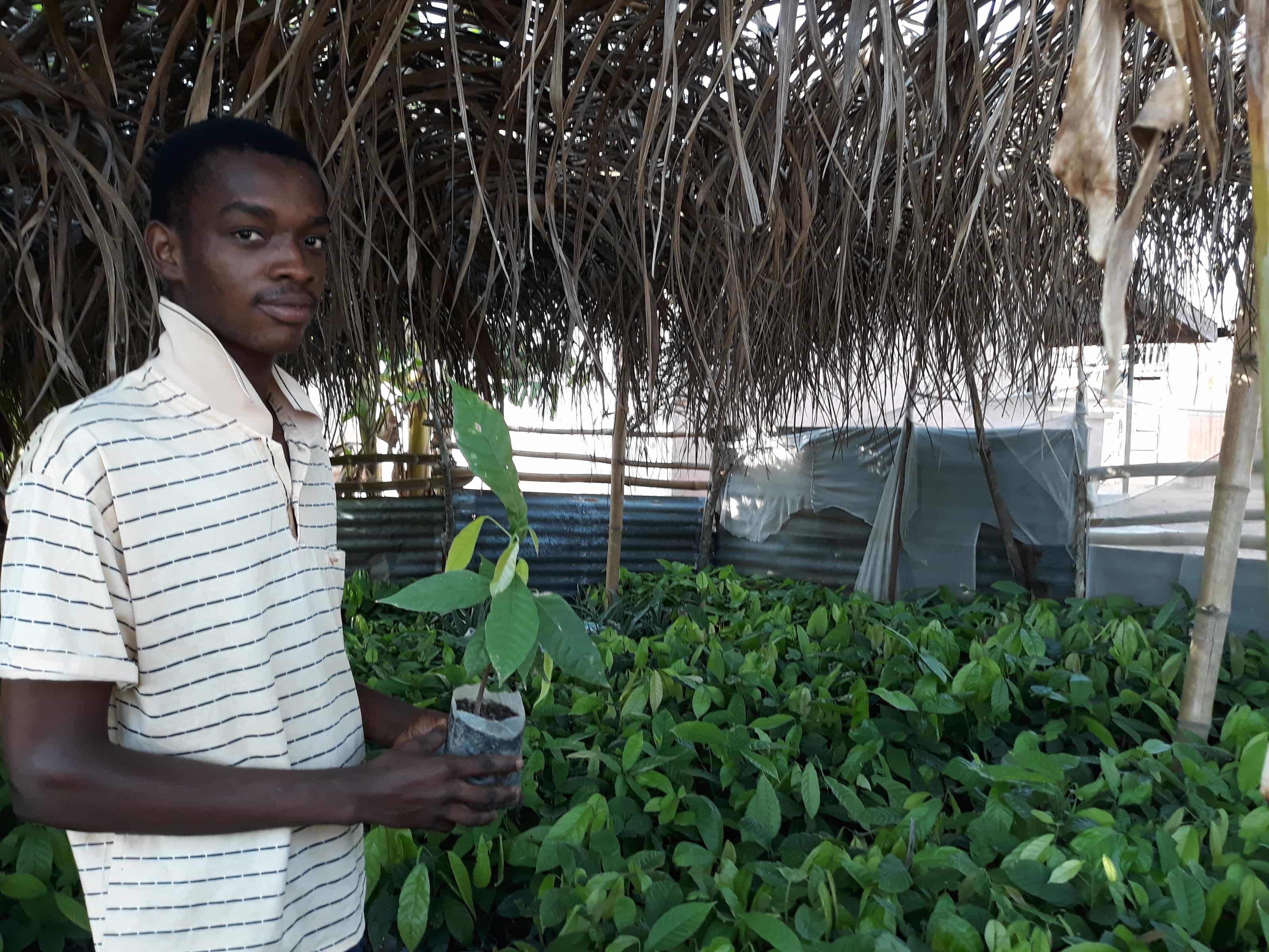 Moses, a cocoa farmer in Ghana