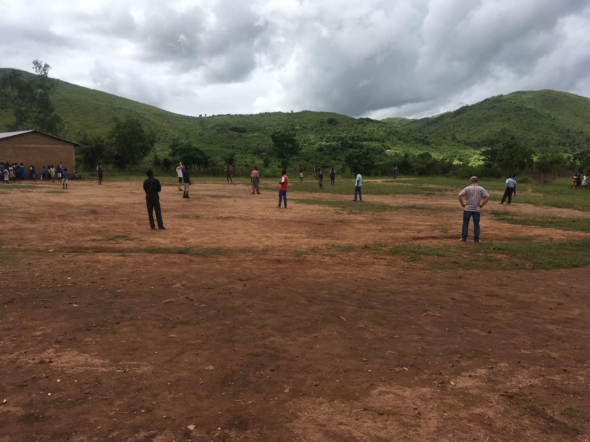 The football pitch at Nasundu School