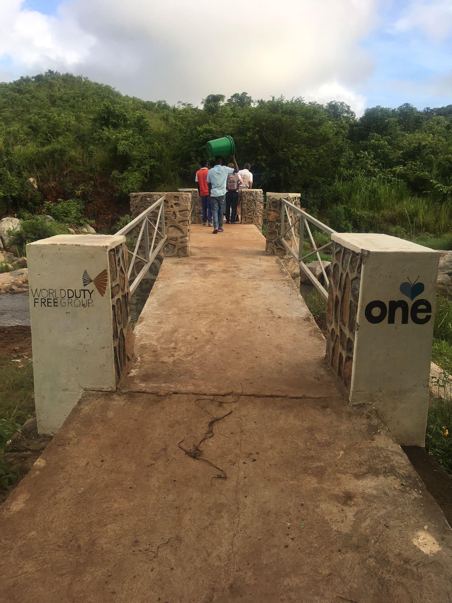 The bridge to Nasundu School