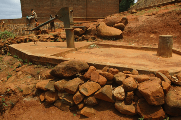 The non-functional borehole at Kasaila Primary School