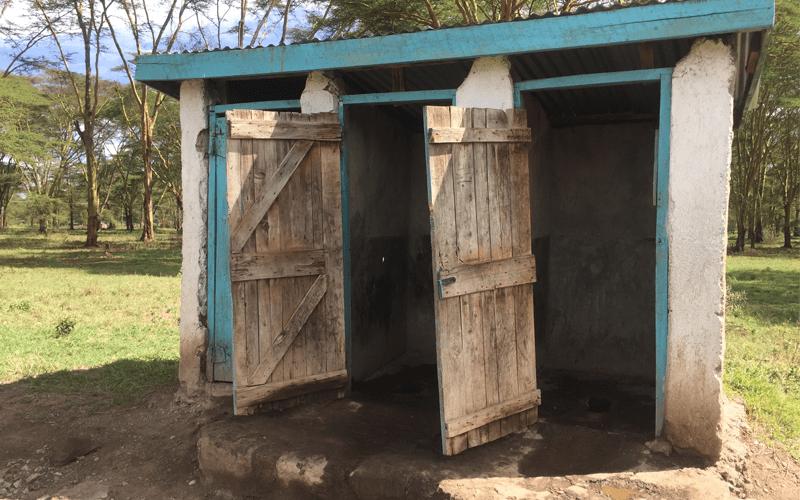 A latrine pit.