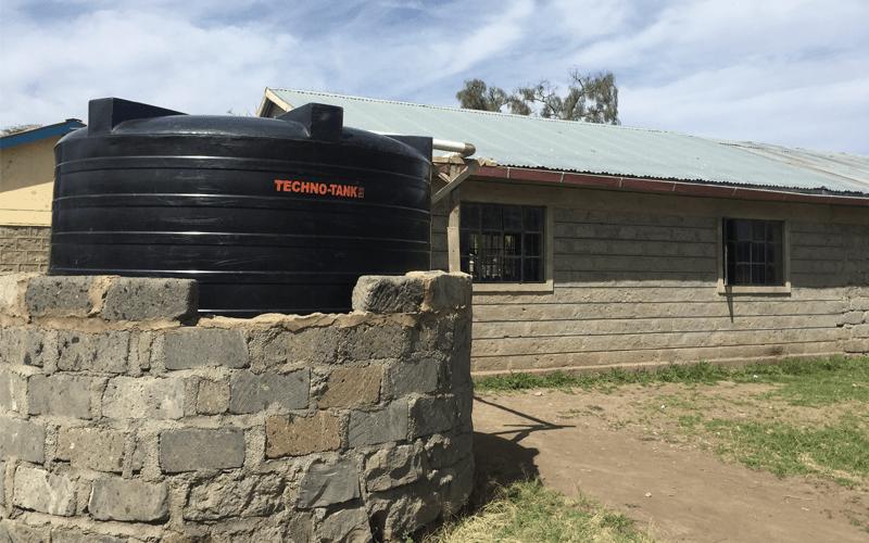 A rain water harvesting tank